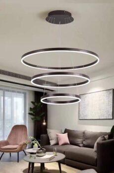 lustre LED en anneau